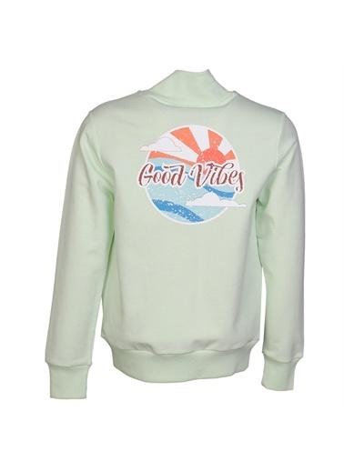Hummel Hummel 9207716753 Caria Fermuarlı Baskılı Kız Çocuk Sweatshirt Renkli